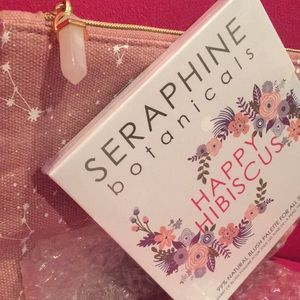 SERAPHINE Happy Habiscus Blush Palette & Bag NWT